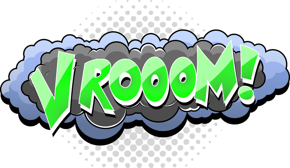 Vrooom - Comic Cloud Expression Vector Text