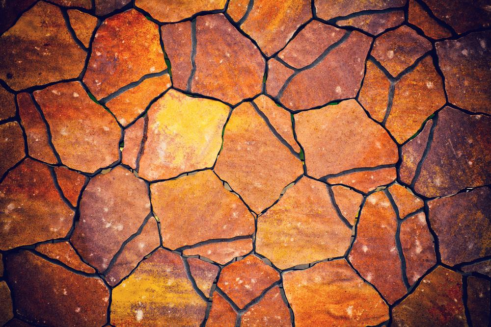 Colorful sidewalk tiles background