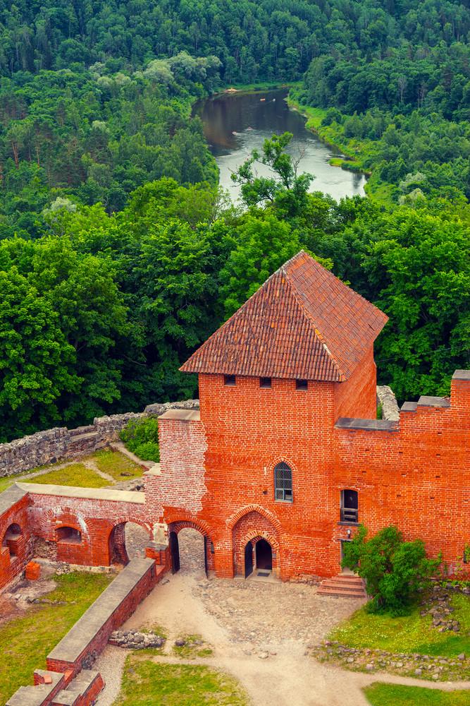 Ancient Turaida Castle in Sigulda
