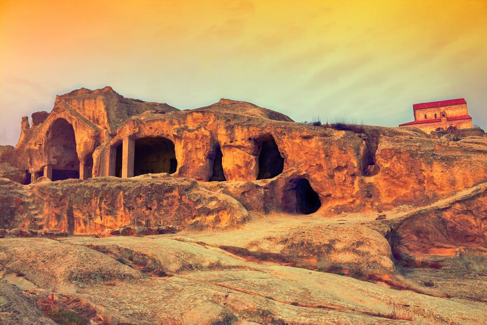 Antigo caverna cidade Uplistsikhe