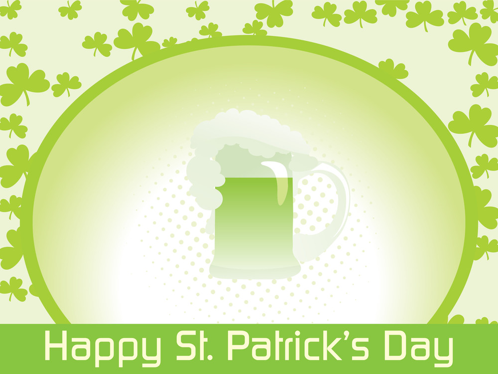 Wallpaper For St Patrick Day Royalty Free Stock Image