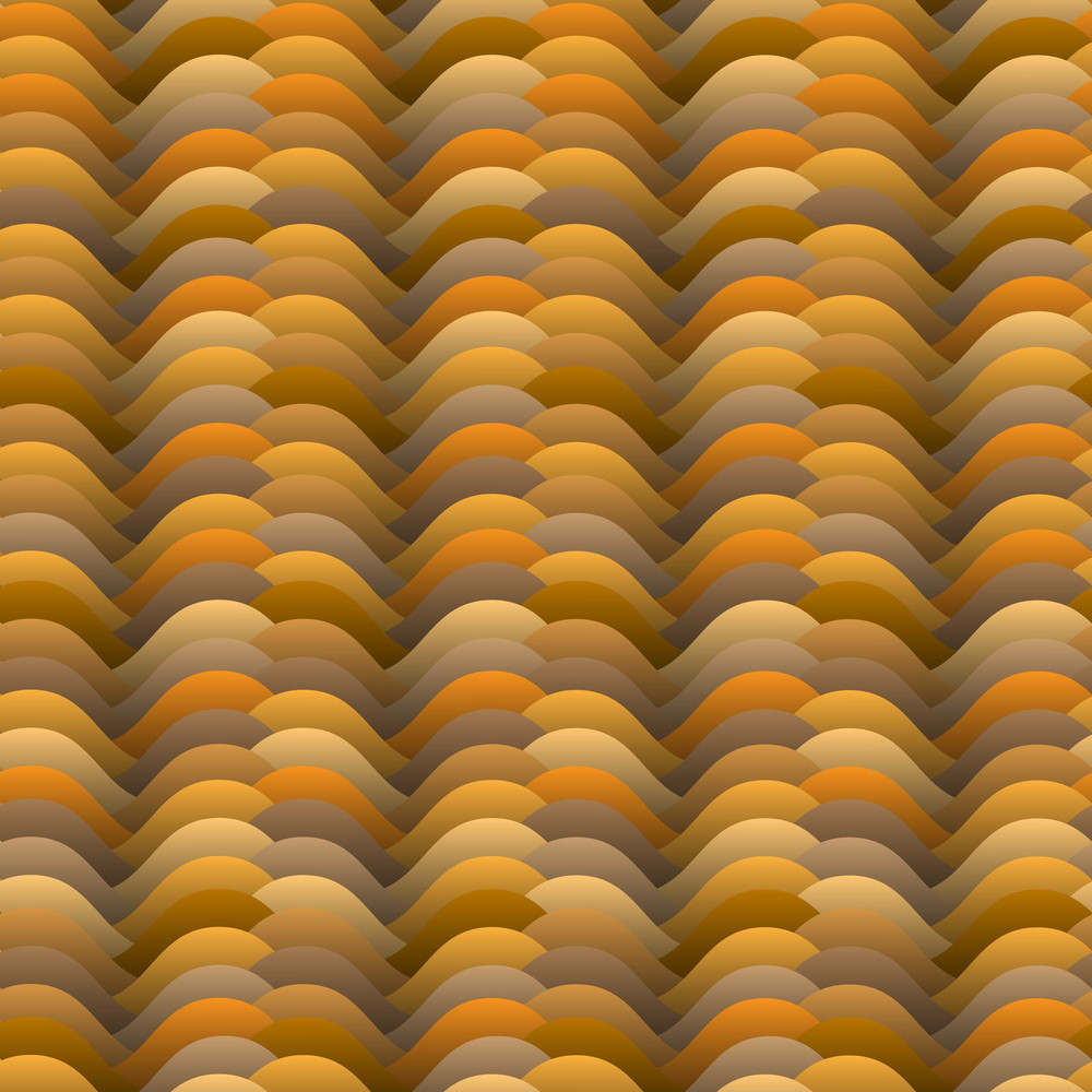 Warm Colored Waves Pattern