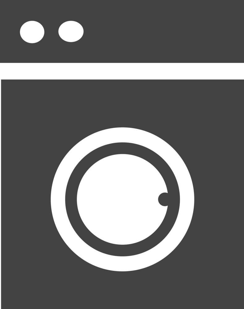 Washer Full Glyph Icon
