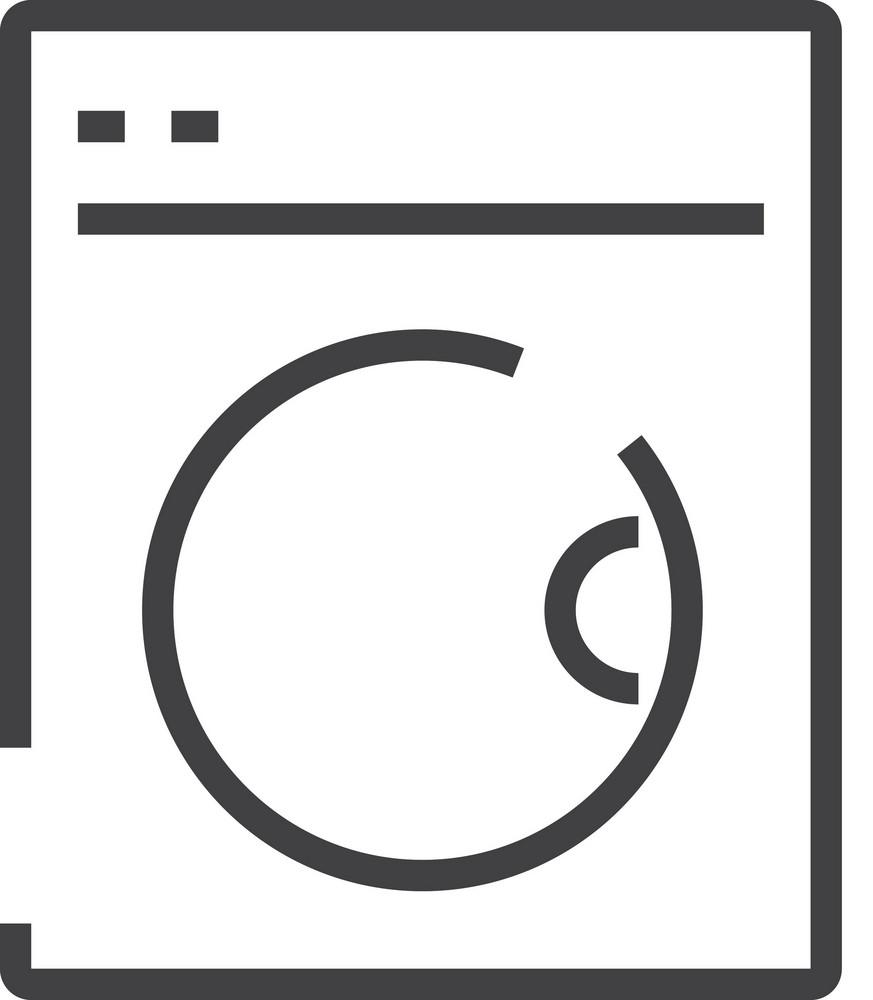 Washer Minimal Icon