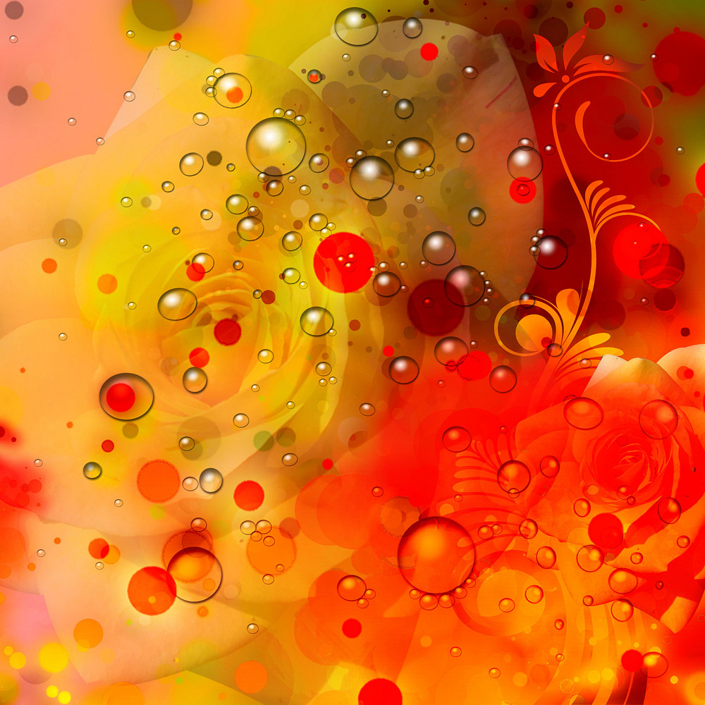 Water Drops Abstract  Background