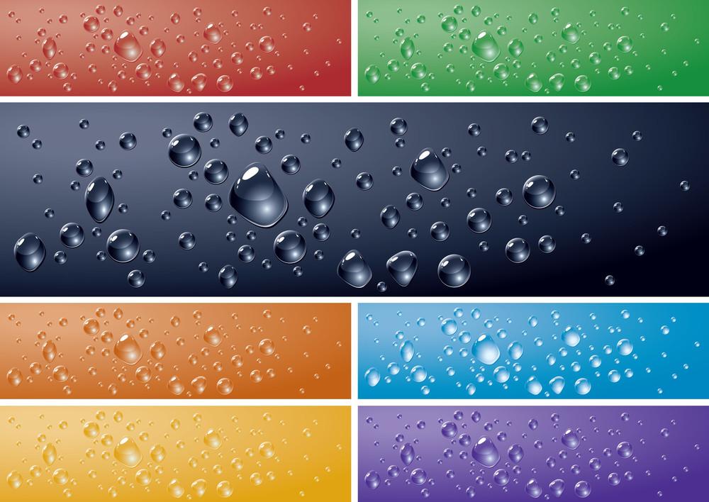 Water Drops Backgrounds. Vector.