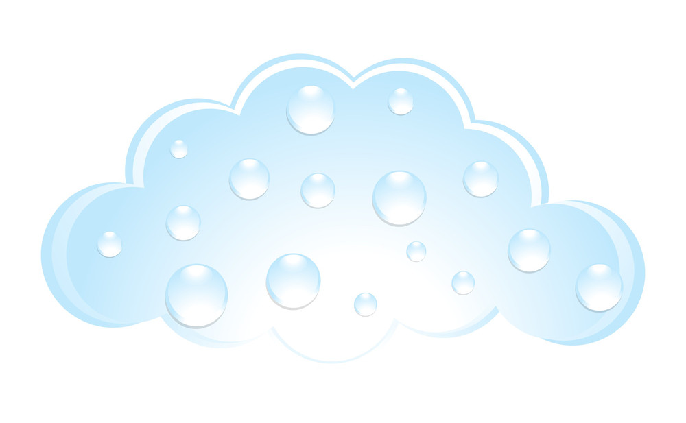 Water Drops Isolated On Cloud