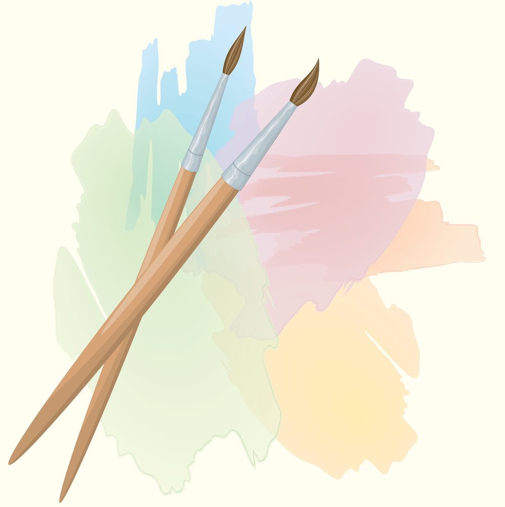 Watercolor Brushes. Vector.