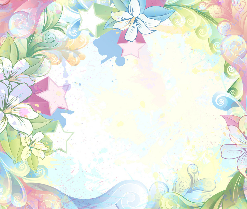 Watercolor Floral Background Vector Illustration Royalty Free