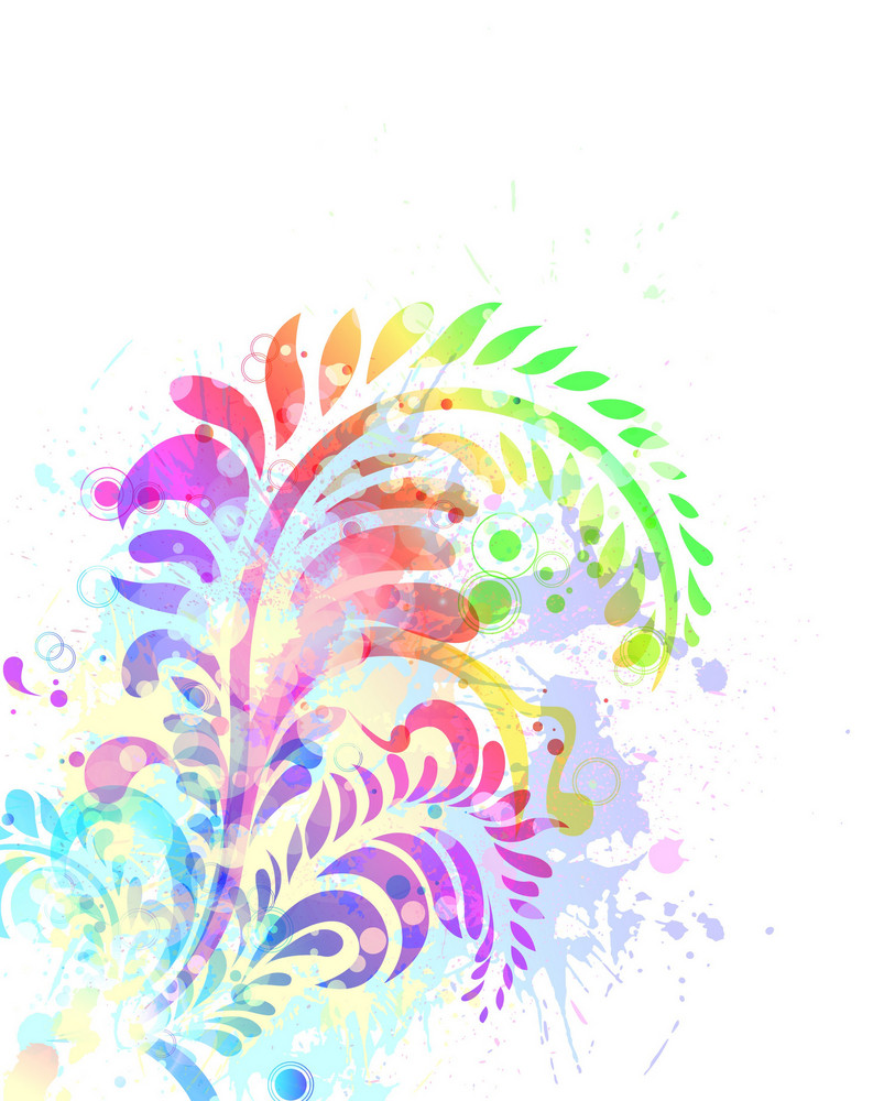 Watercolor Floral Background Vector Illustration