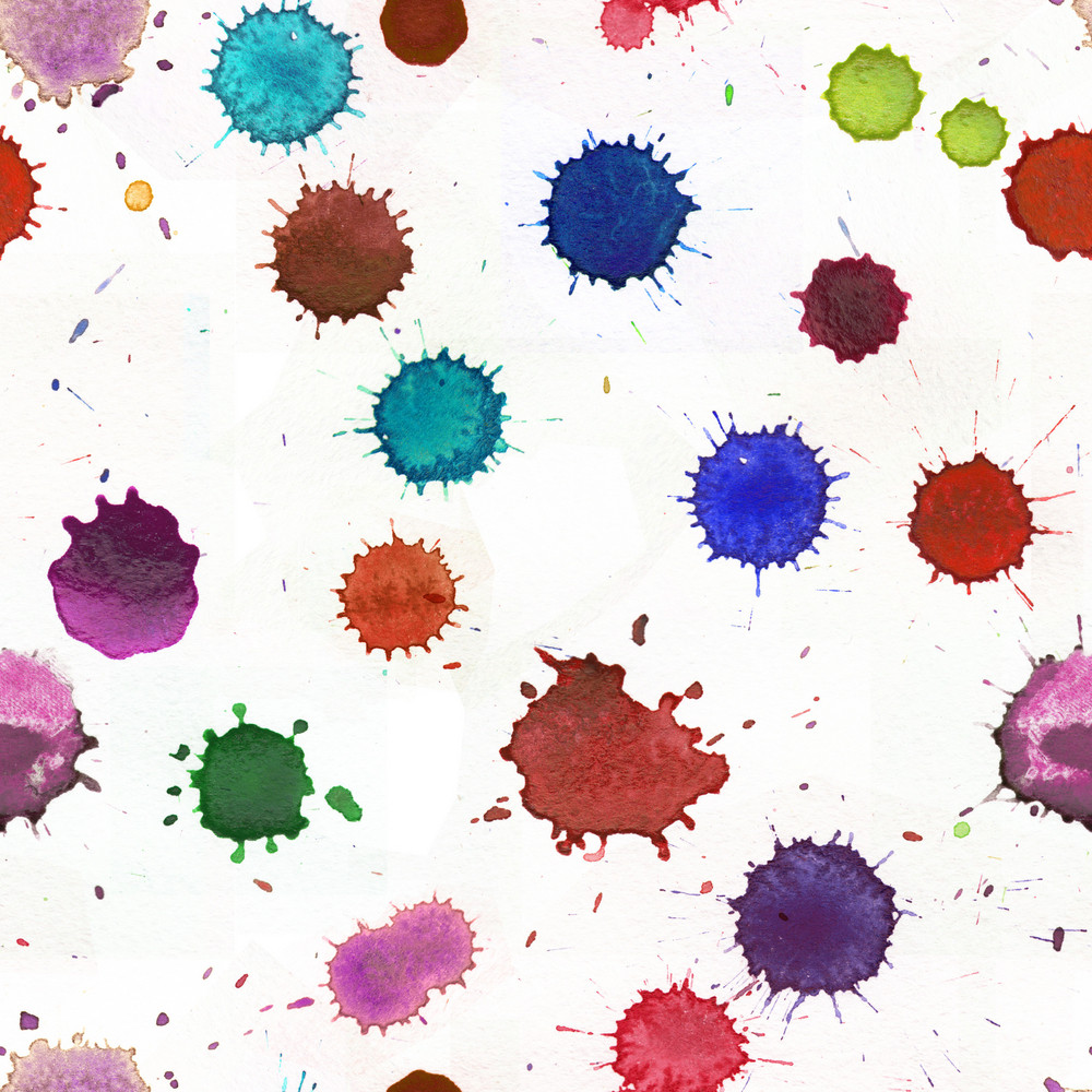 Watercolor  Seamless Pattern. Seamless Pattern Can Be Used For Wallpaper