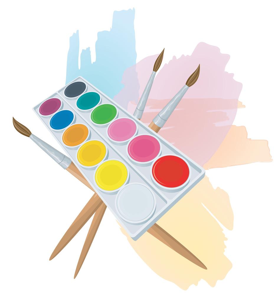 Watercolors. Vector.