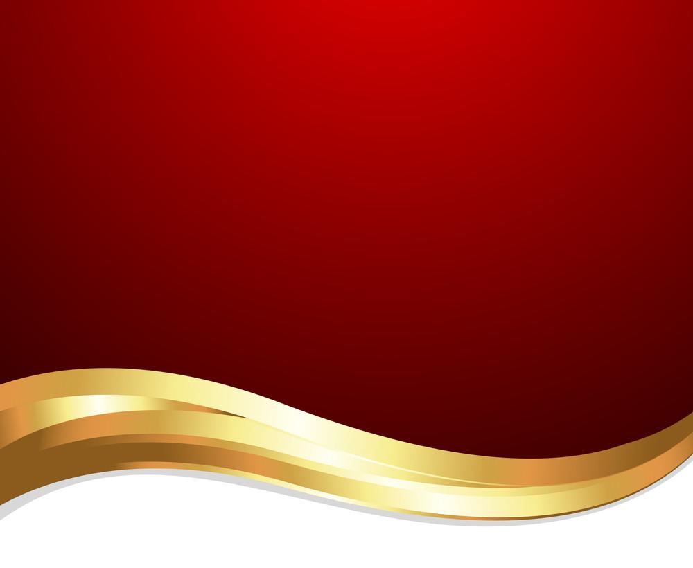 Wave Design Golden Banner