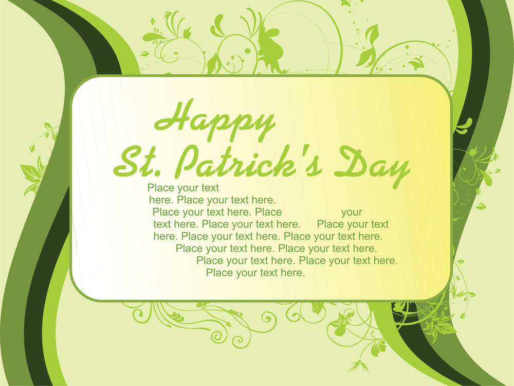 Wave Design St. Patrick's Celebratory Card 17 March
