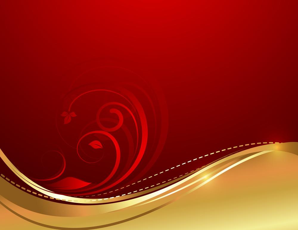 Wave Flourish Swirl Background
