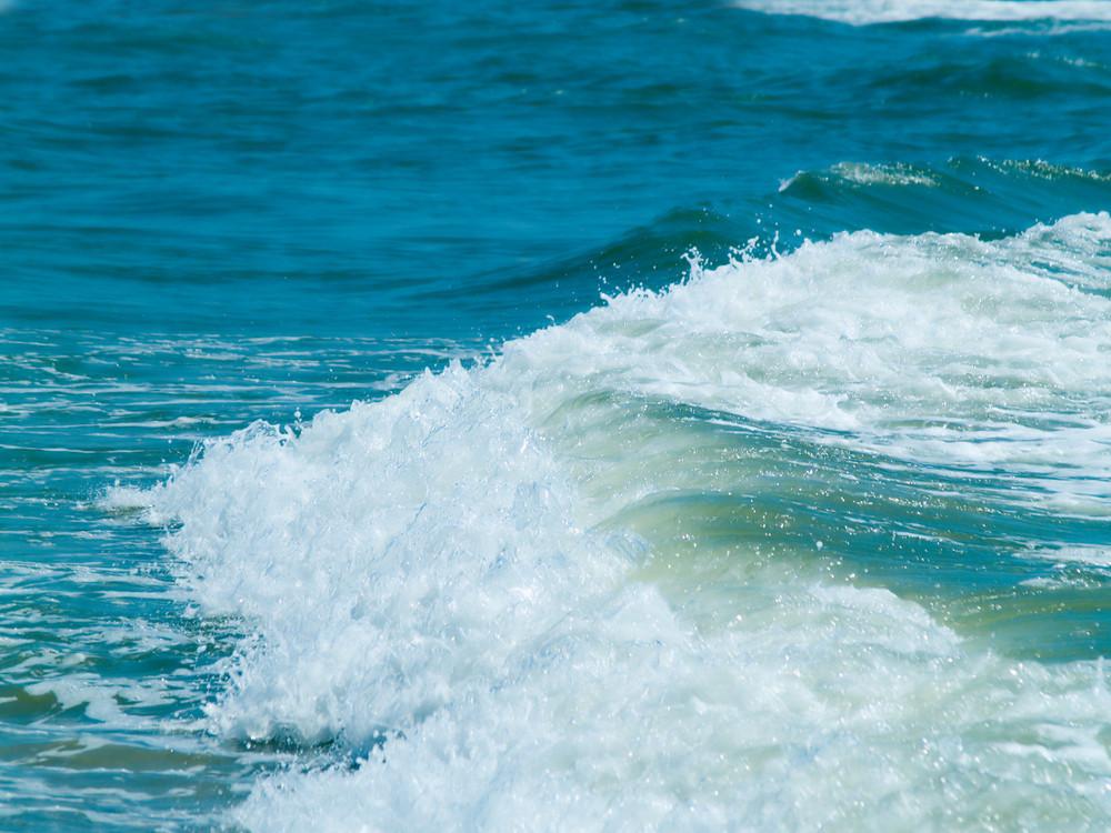 Wave Splash Over Coastline