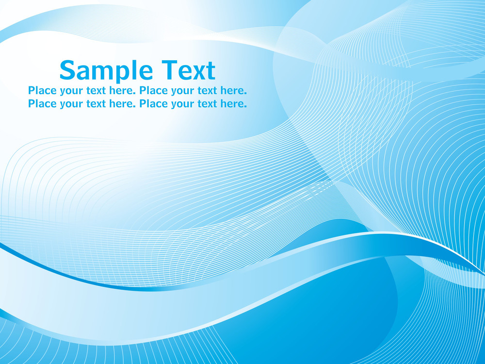Wave Vector With Sample Text