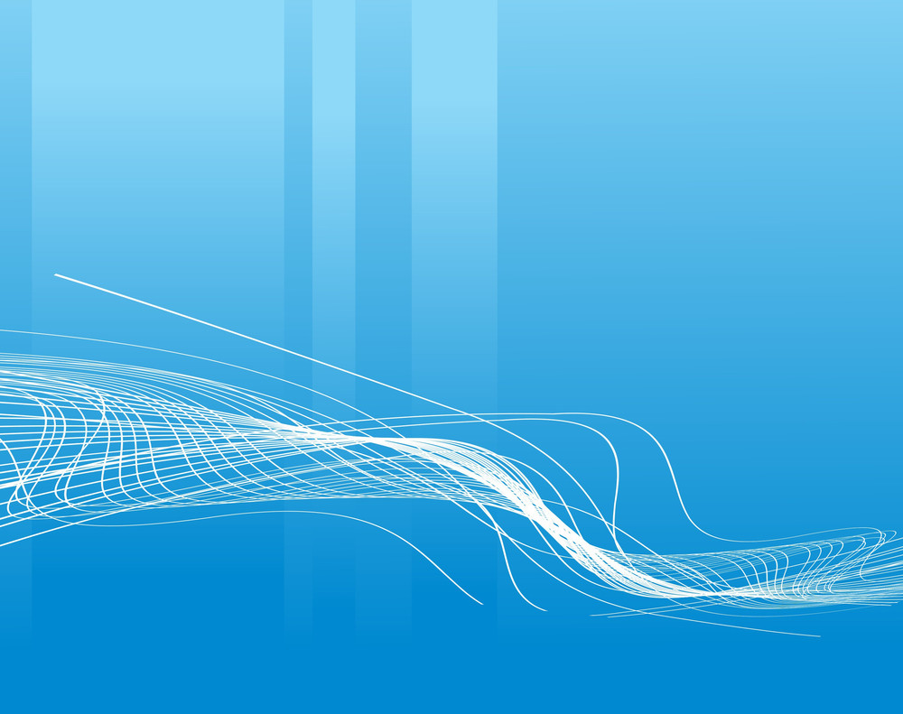 Waves Concept On Blue Background