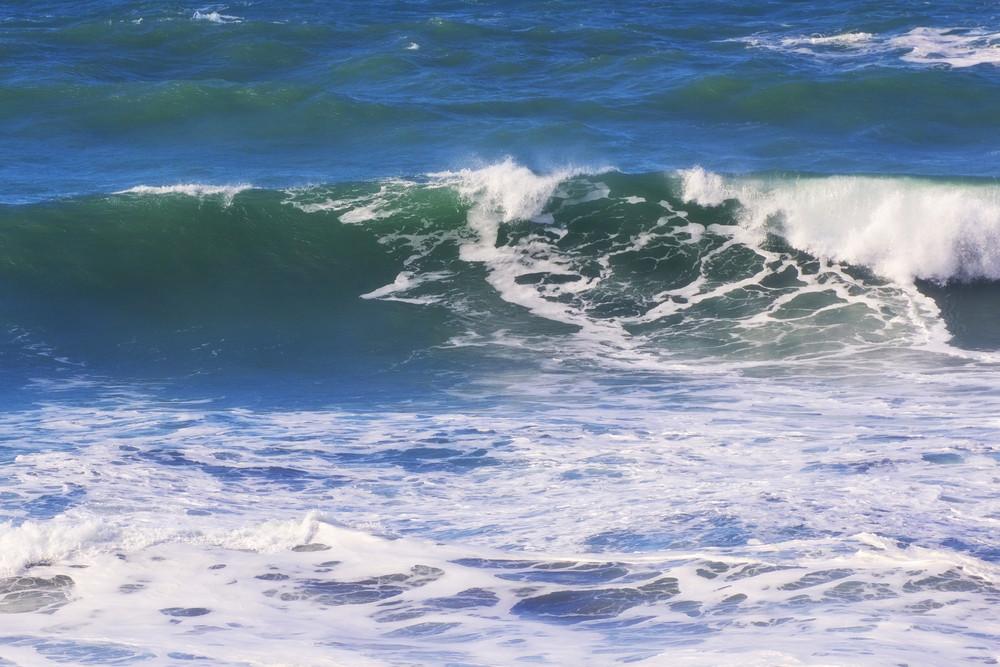 Waves Splashing At Sea Beach