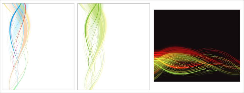 Wavy Background Vectors