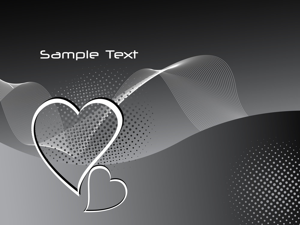 Wavy Background With Heart Shape