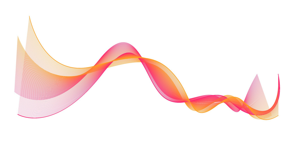 Wavy Blend Lines Vector
