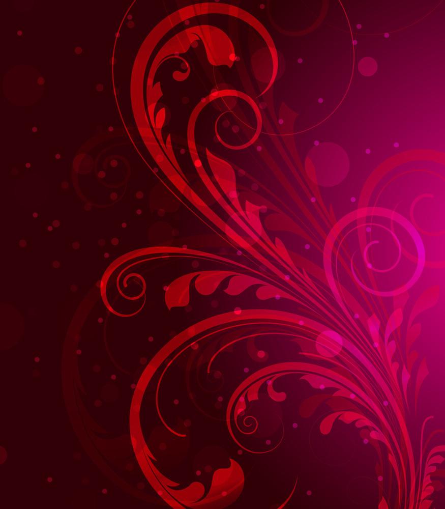 Wavy Floral Sparkles Background