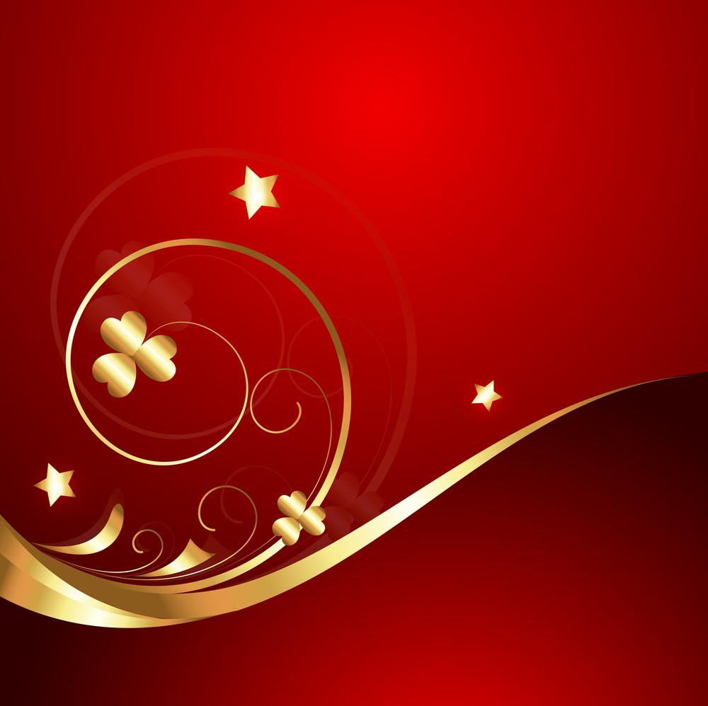 Wavy Golden Flourish Sparkles Background