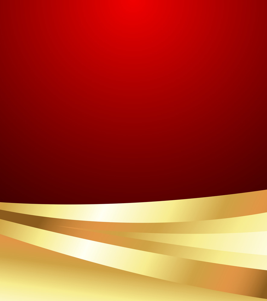 Wavy Golden Valentine Background