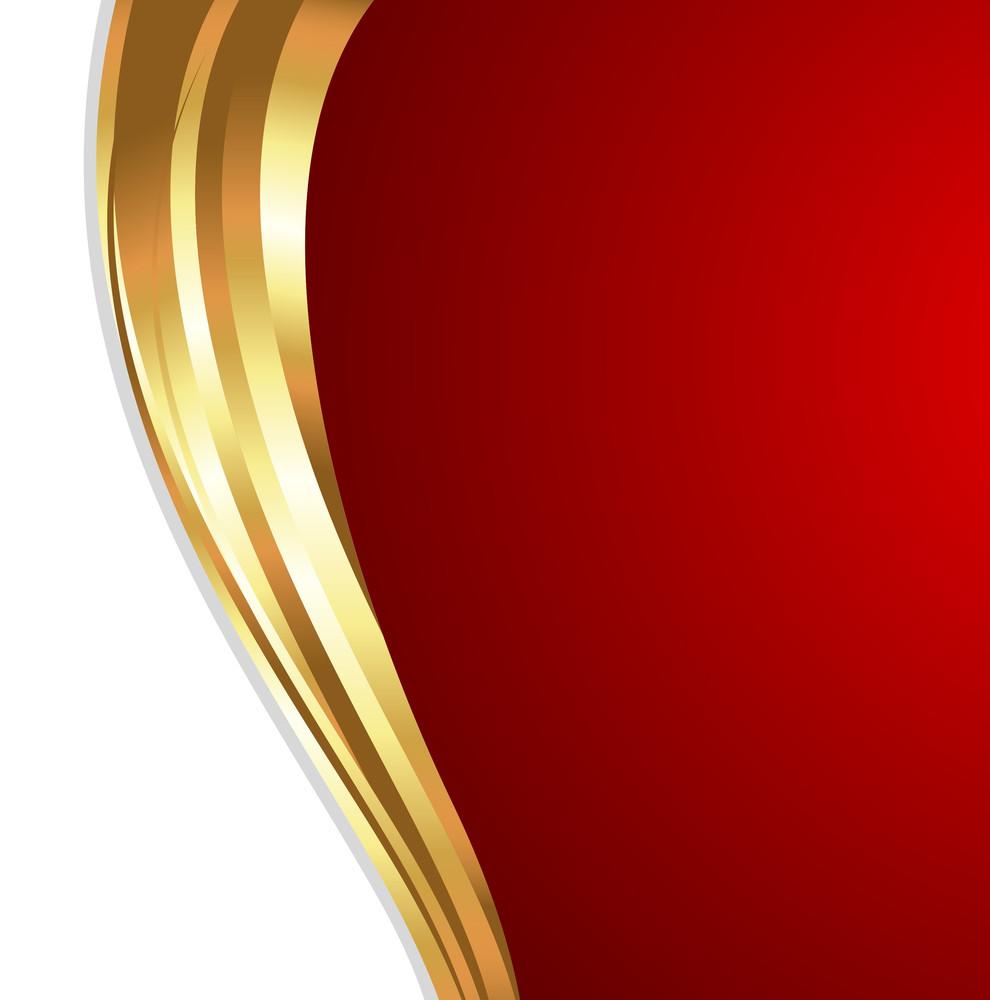 Wavy Golden Valentine Background