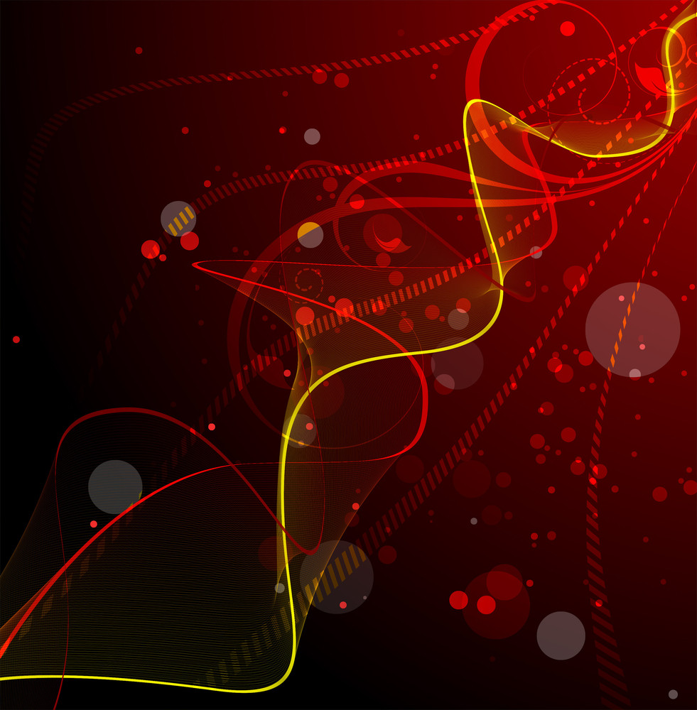 Wavy Lines Abstract Background