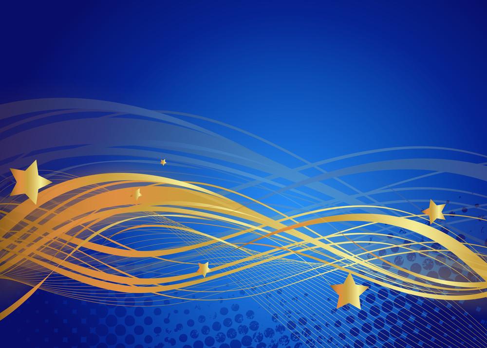 Wavy Lines Stars Background