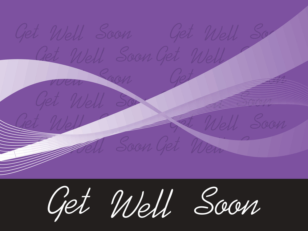 Wavy Pattern Get Well Soon Background