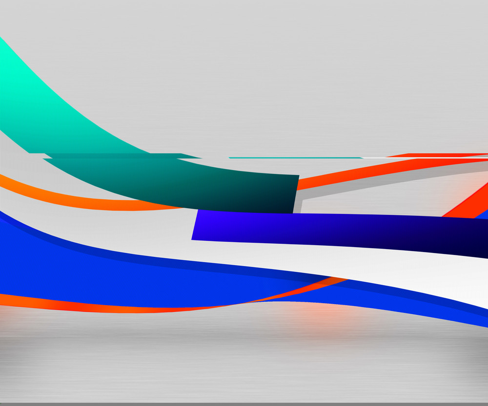 Wavy Shapes Abstract Background