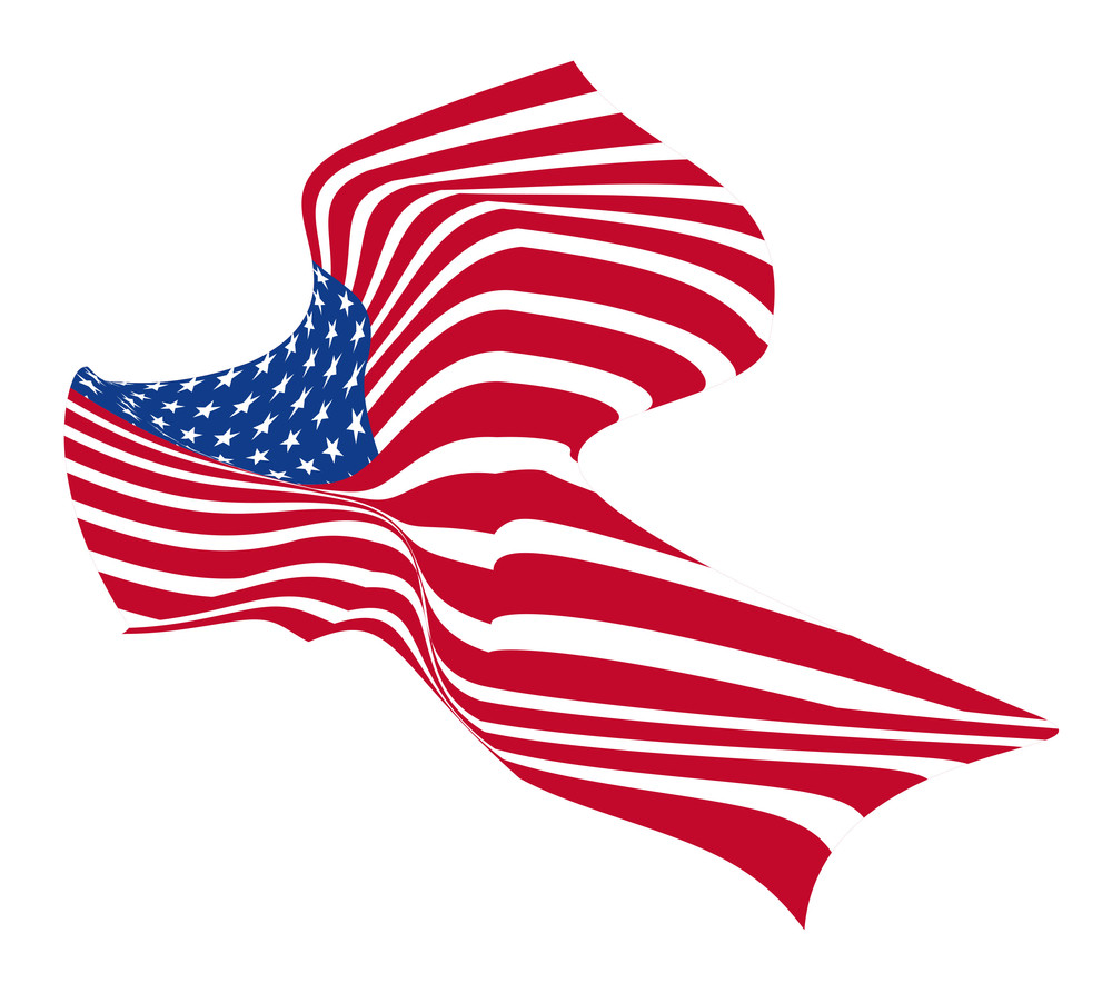 Wavy Usa Flag Design