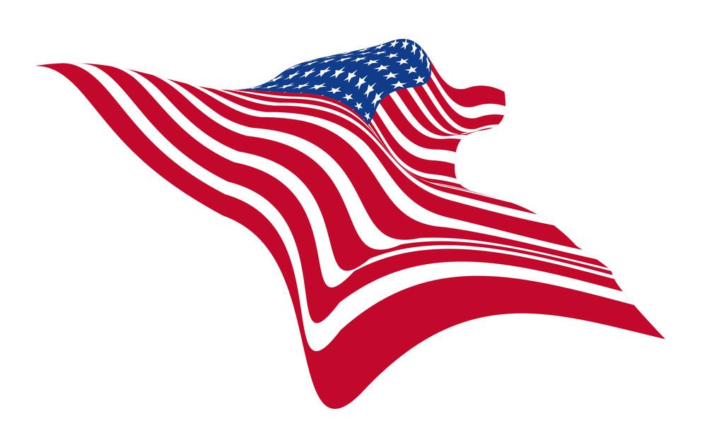 Wavy Usa Flag Vector
