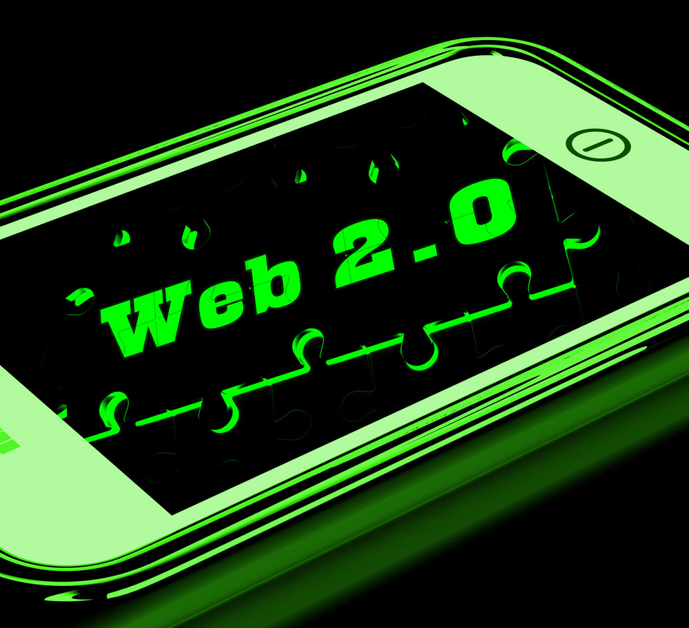 Web 2.0 On Smartphone Showing Social Networking