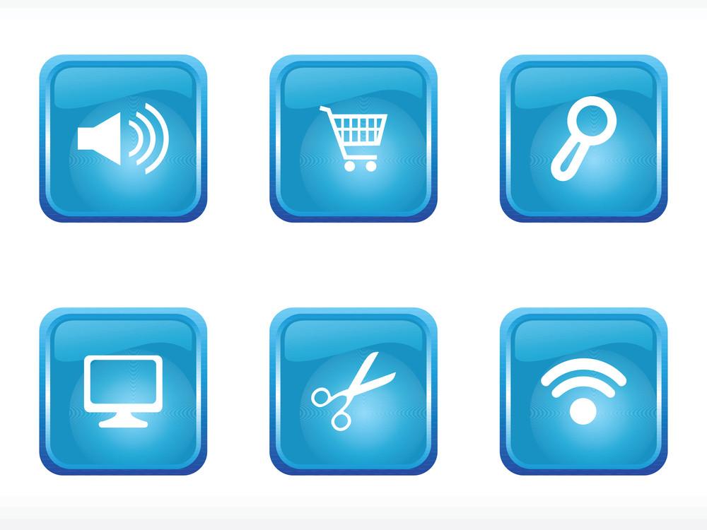 Web 2.0 Style Blue Icon Set