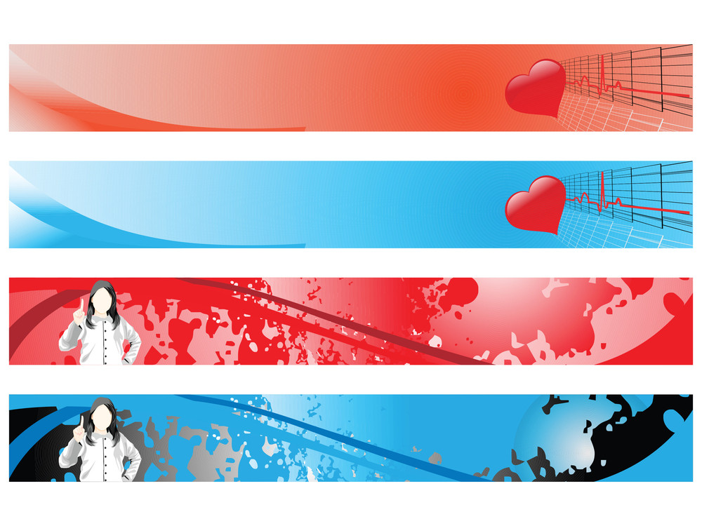 Web 2.0 Style Medical Series Website Banner Set 2