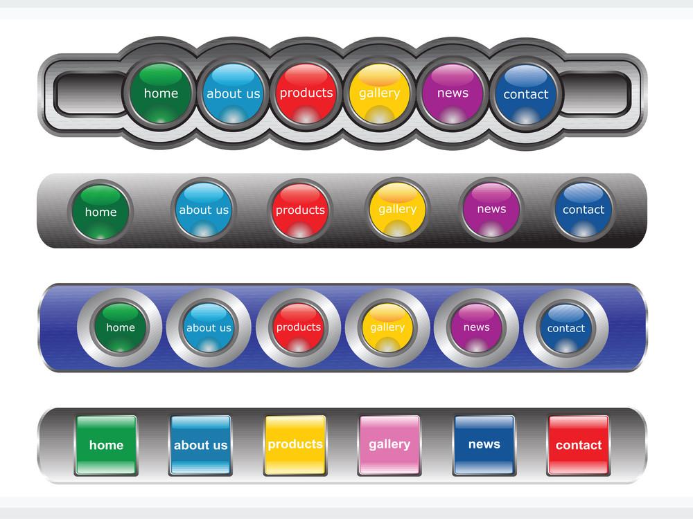 Web 2.0 Style Menu Button Series Set 12