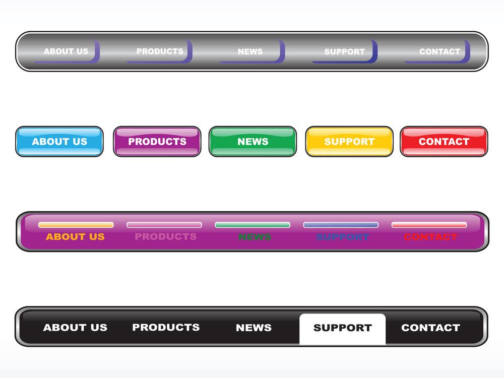 Web 2.0 Style Menu Button Series Set 13