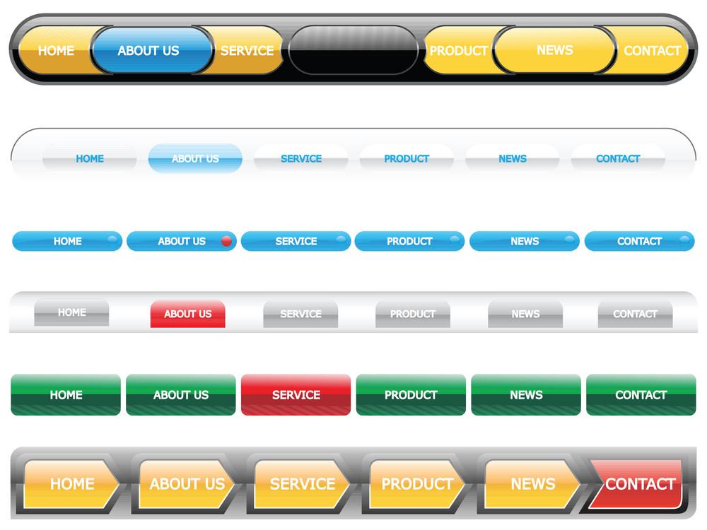 Web 2.0 Style Menu Button Series Set 2