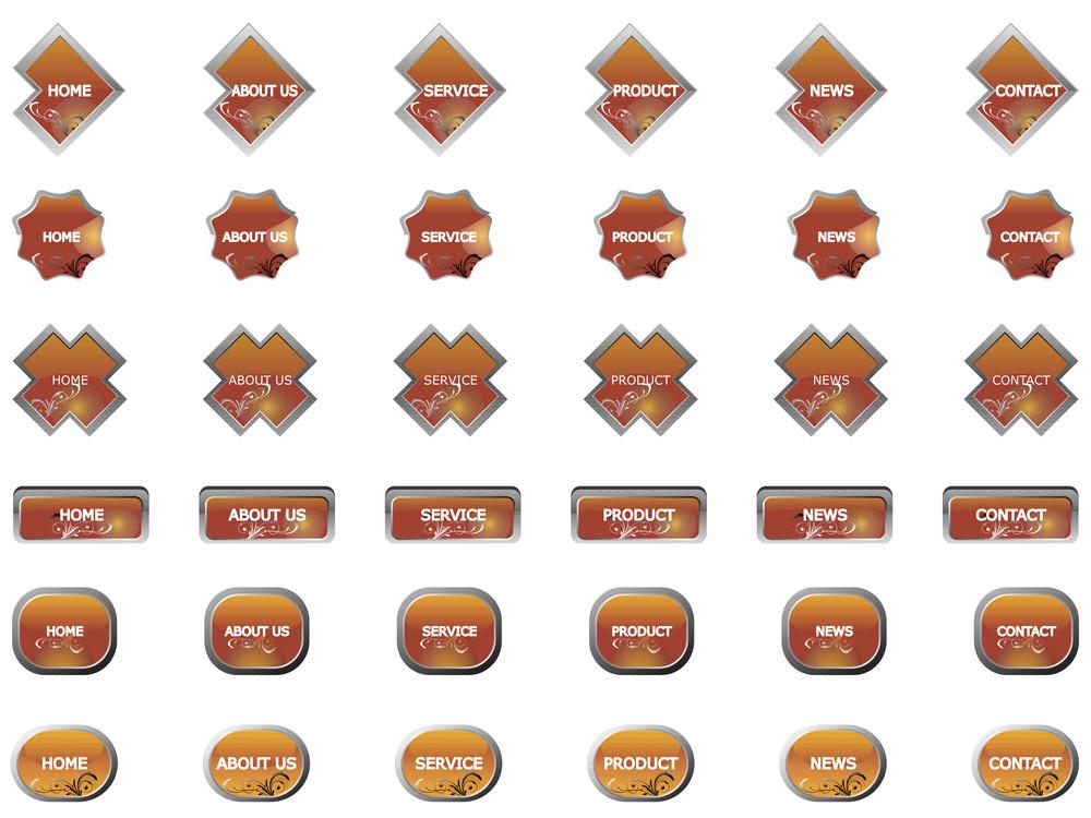 Web 2.0 Style Menu Button Series Set 3