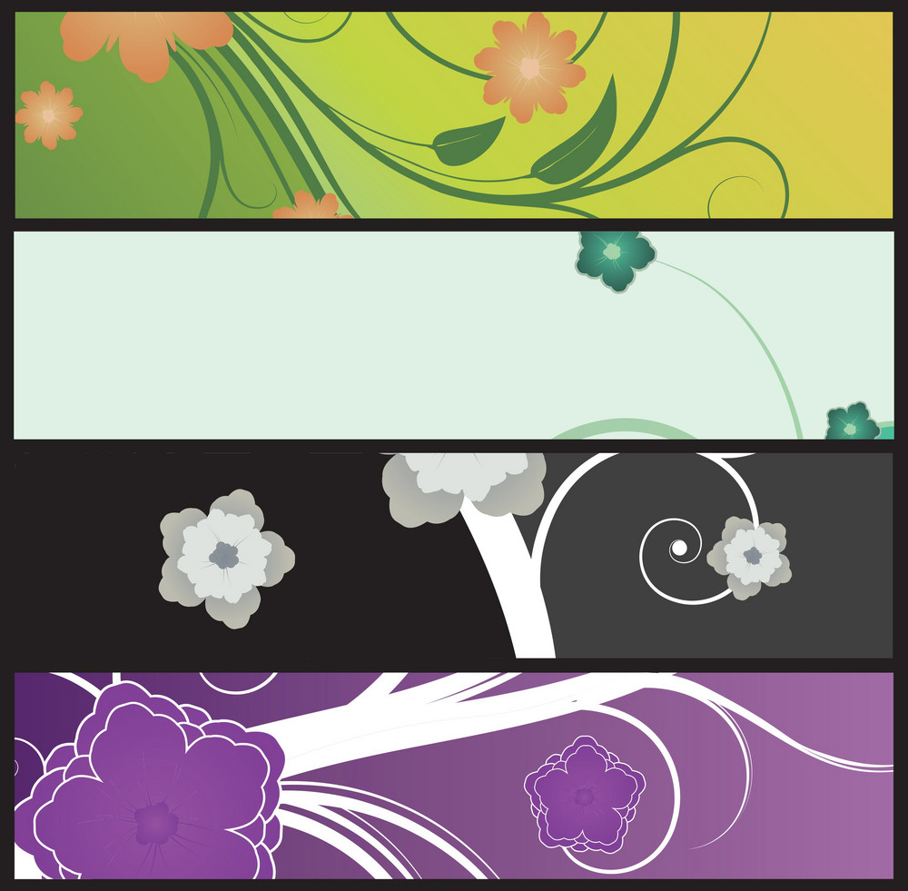 Web Banners Vector Set