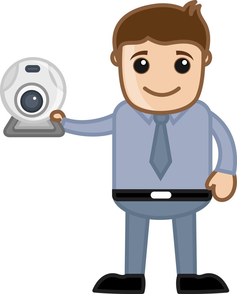 Web Cam - Business Cartoons