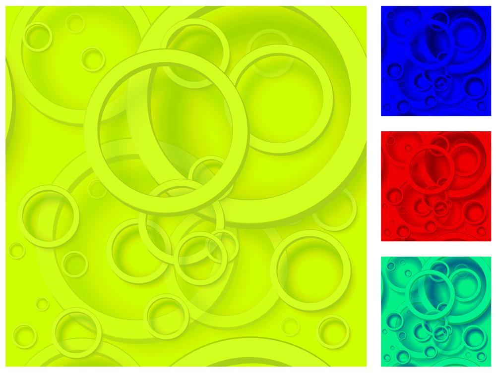 Web Design Color Bubbles Vector Template