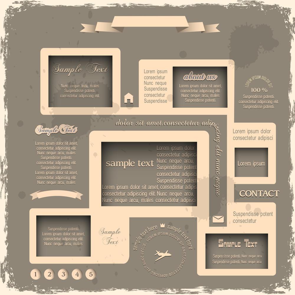 Web Design In Retro Style