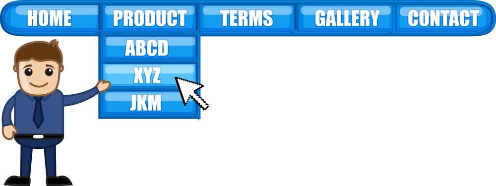 Web Menu - Cartoon Vector
