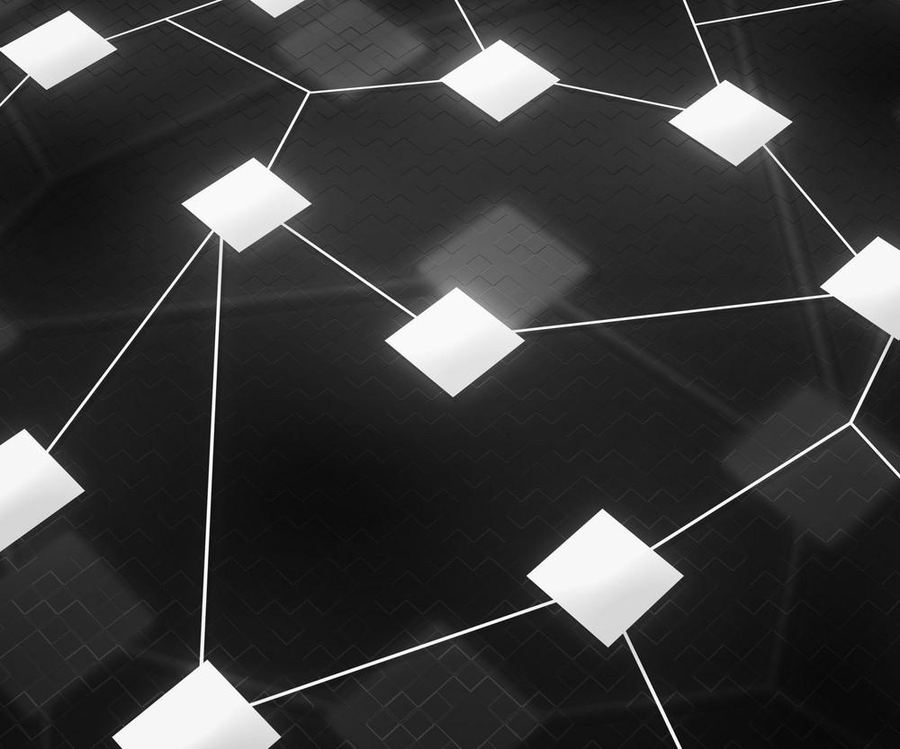 Web Network Image Dark Background