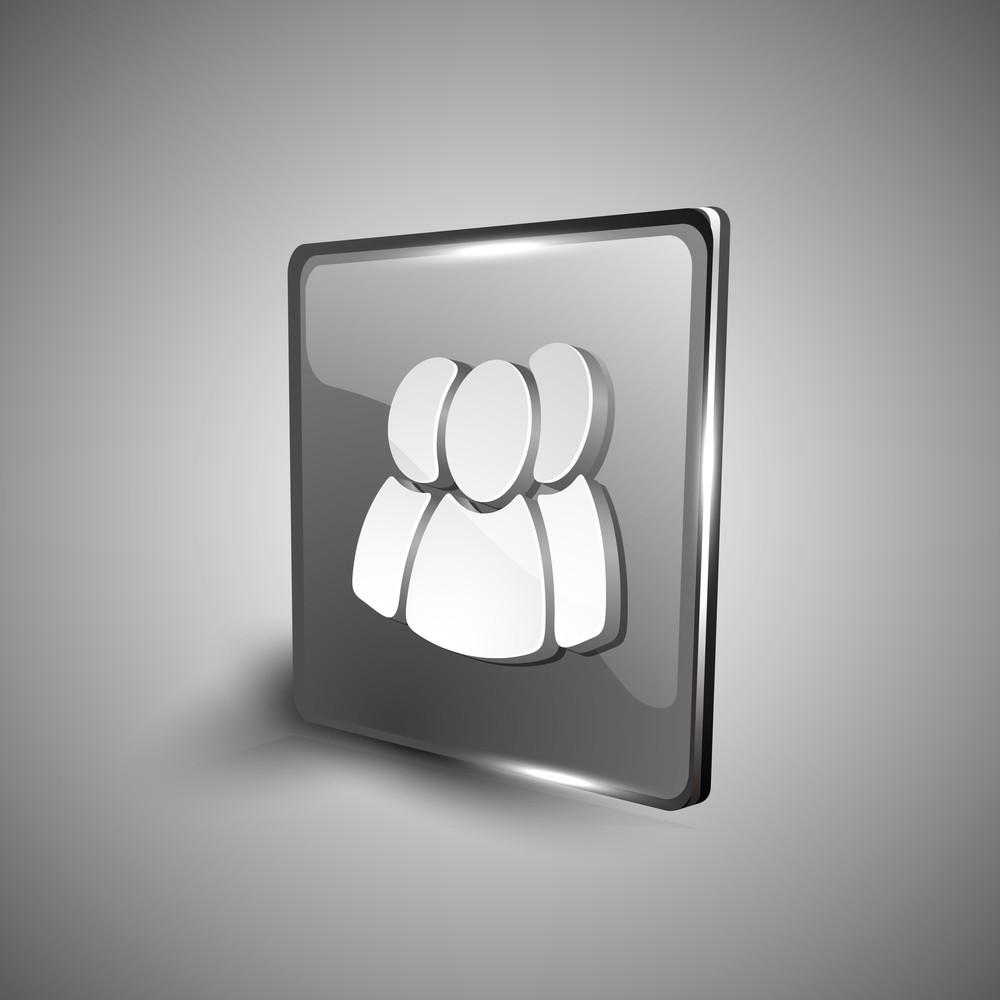 Web User Symbol Icon Set.